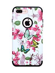 ราคาถูก -Case สำหรับ Apple iPhone XS / iPhone XR / iPhone XS Max Shockproof ปกหลัง เลขาคณิต / ต้นไม้ / ดอกไม้ TPU / พีซี