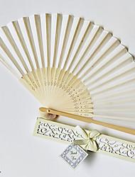 Недорогие -Сплошной цвет бамбука складной веер свадебные сувениры свадебные принадлежности подарок 22 см длиной