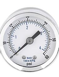 Недорогие -1 / 8in воздушный компрессор гидравлический манометр 0-60 фунтов на квадратный дюйм