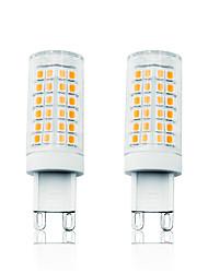Недорогие -Loende 2шт. 7Вт светодиодные кукурузные фонари светодиодные двухконтактные светильники 800 лм G9T 78 светодиодные шарики smd 2835 с возможностью затемнения теплый белый белый 110-130 В 200-240 В