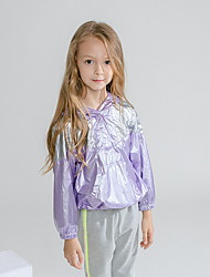 povoljno -Dijete koje je tek prohodalo Djevojčice Aktivan Color block Normalne dužine Jakna i kaput purpurna boja