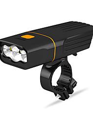 Недорогие -Светодиодная лампа Велосипедные фары Передняя фара для велосипеда LED Горные велосипеды Велоспорт Водонепроницаемый Несколько режимов Супер яркий Литий-ионная 2400 lm USB Перезаряжаемый Белый