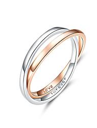 Недорогие -два цвета кольцо двойной круг кольца для любовника пара подлинной стерлингового серебра 925 обручальные ювелирные изделия