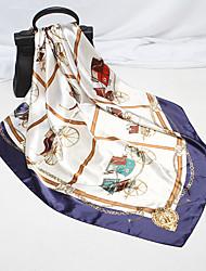 Недорогие -Жен. Для вечеринки / Классический Квадратный платок / Шарфы кольцом Цветочный принт / С принтом