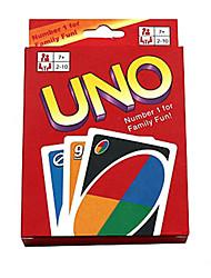Недорогие -Настольные игры Карточная игра UNO пластик Куски Универсальные Детские Подарок