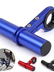 Недорогие -Удлинитель велоруля Держатель для фонарика Регулируется Легкость Стретч для Шоссейный велосипед Горный велосипед Велосипеды для активного отдыха Aluminum Alloy Черный Синий Красный