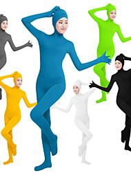 """Недорогие -Костюмы на все тело """"зентай"""" Костюмы кошки Кожаный костюм Ниндзя Косплей Взрослые Lycra® Косплэй костюмы Пол Жен. Черный / Зеленый / Белый Сплошной цвет / Эластичность"""