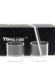 Недорогие -Замена стеклянной трубки yuhetec для moonshot rdta 2шт.