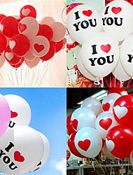 Недорогие -Воздушный шар Ластик Свадебные украшения Свадебные прием Романтика / Креатив / Свадьба Все сезоны