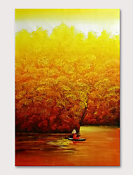 Недорогие -Hang-роспись маслом Ручная роспись - Цветочные мотивы / ботанический Абстрактные пейзажи Modern Без внутренней части рамки