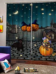 Недорогие -Горячая распродажа низкая цена 3d печать шторы хэллоуин тема утолщение плотные ткани занавес для партии украшения род комплект занавес готовые