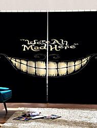 Недорогие -счастливый хэллоуин улыбка фон шторы уф цифровая печать занавес затемнения влагостойкие пользовательские ткани для штор
