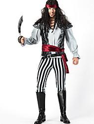 Недорогие -Пираты Костюм Муж. ТВ / Кино Хэллоуин Выступление Тематическая вечеринка костюмы Муж. Танцевальные костюмы Терилен Комбинация материалов