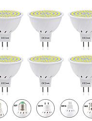Недорогие -6шт 8 W Точечное LED освещение 800 lm E14 GU10 MR16 MR16 80 Светодиодные бусины SMD 2835 Новый дизайн Тёплый белый Белый 220-240 V 110-120 V