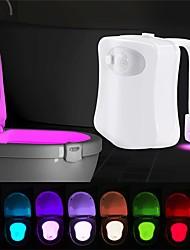 Недорогие -Loende умный датчик движения сиденье унитаза ночник 8 цветов водонепроницаемый подсветка для унитаза светодиодная лампа Luminaria туалет туалет свет