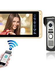 Недорогие -проводная&усилитель; Беспроводная 7-дюймовая громкая связь 1024 * 600 пикселей, один на один, видеодомофон