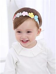 Недорогие -Дети (1-4 лет) / Ребёнок до года Девочки Милая Цветочный принт Аксессуары для волос Цвет радуги Один размер