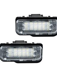 povoljno -2pcs / set svjetla registarskih tablica za automobile za benzinske w203 5d / w211 / w219 / r171