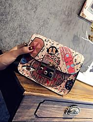 Недорогие -Жен. Пайетки / Цепочки ПВХ Сумочка через плечо Контрастных цветов Черный / Красный / Розовый / Наступила зима