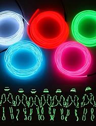 Недорогие -3M Гибкие светодиодные ленты 1 светодиоды EL Белый / Красный / Синий Для вечеринок / Декоративная / Подсветка для авто Аккумуляторы AA 1шт