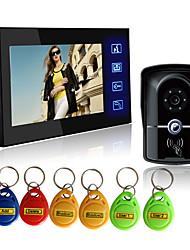 Недорогие -проводной RFID 7-дюймовый громкой связи 800 * 480 пикселей один на один видео домофон