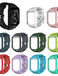 Недорогие -Ремешок для часов для TomTom Multi-Sport GPS+HRM / TomTom Runner 2 / TomTom Runner 3 TomTom Спортивный ремешок силиконовый Повязка на запястье