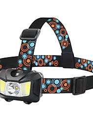 Недорогие -Налобные фонари Освещение для рыбалки Фары для велосипеда Светодиодная лампа Двойной LED LED излучатели Руководство 4.0 Режим освещения Водонепроницаемый Портативные Регулируется