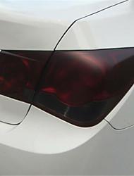 Недорогие -Автомобили 30 * 100см черный матовый задний фонарь фара оттенок виниловая пленка наклейка на автомобиль