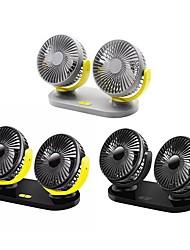 Недорогие -12v / 24v usb вентилятор охлаждения автомобиля малошумный летний кондиционер 360 градусов вращения регулируемый вентилятор автомобиля