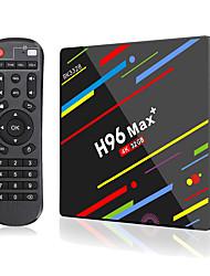 Недорогие -h96 max plus умная телевизионная приставка android 9.0 rk3328 4k медиаплеер quadcore 4 Гб оперативной памяти 64 ГБ rom android 8.1 приставка rockchip приставка 2.4g / 5g wifi h.265 h96max + tvbox