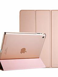 Недорогие -Кейс для Назначение Apple iPad 4/3/2 Флип / Матовое / Оригами Чехол Однотонный Кожа PU