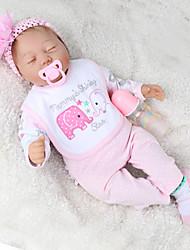 Недорогие -NPK DOLL Куклы реборн Куклы Мальчики Девочки 22 дюймовый Подарок Очаровательный Детские Универсальные Игрушки Подарок