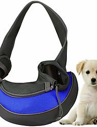 Недорогие -Кошка Собака Переезд и перевозные рюкзаки Сумка Ткань Животные Корзины Однотонный Компактность Дышащий Синий Розовый Светло-синий
