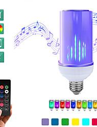 お買い得  -1セット8ワットのBluetooth音楽LEDグローブ電球LEDキャンドルライトLEDスマート電球E26 / E27 26 LEDビーズ24キーリモートコントロールフレームフリッカー3D花火16色変更90-240 V