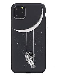 Недорогие -Кейс для Назначение Apple iPhone 11 / iPhone 11 Pro / iPhone 11 Pro Max Ультратонкий / Матовое / С узором Кейс на заднюю панель Цвет неба ТПУ