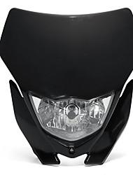 Недорогие -1шт 12v 35w мотоцикл h4 фара обтекатель внедорожный налобный фонарь универсальный - черный