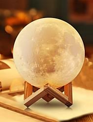 Недорогие -Луна лампа светодиодный ночник 3d глобус яркость USB зарядка аккумуляторная дома декоративные для ребенка малыша новый год рождественский подарок деревянная подставка 12 см 4.7 дюймов