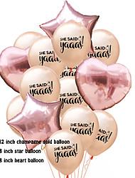 Недорогие -Воздушный шар эмульсионный 1 комплект Свадьба
