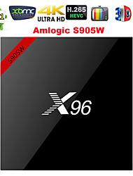 Недорогие -x96 Smart TV Box Android 7.1 2 ГБ 16 ГБ Amlogic S905W четырехъядерный процессор 4 К 2,4 ГГц Wi-Fi медиа-плеер