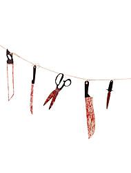Недорогие -Кровавый нож веревка инструменты horok наборы инструментов жуткий кулон нож гирлянда баннер тайна дом с привидениями бар украшения