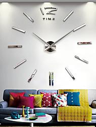 Недорогие -настенные часы, мода поделки из акриловой нержавеющей стали нерегулярные крытый 70 * 140 см (28&Quot; * 55&Quot;)