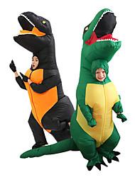 Недорогие -Динозавр T-Rex Косплэй Kостюмы Товары для Хэллоуина Надувной костюм Мальчики Девочки Косплей из фильмов Хэллоуин Черный / Зеленый трико / Комбинезон-пижама Вентиляторы Хэллоуин Новый год Полиэстер