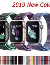 Недорогие -Нейлоновый ремешок для яблочного ремешка для часов 44мм 40мм 42мм 38мм Спортивный браслет с ремешком для часов серии Apple 5/4/3/2/1 аксессуары