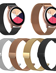 Недорогие -ремешок для часов для samsung galaxy watch active2 40/44 мм samsung galaxy / motorola milanese loop браслет из нержавеющей стали