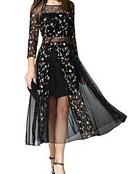 Недорогие -Жен. С летящей юбкой Платье - Геометрический принт Средней длины