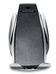 Недорогие -автоматический s5 автомобильное беспроводное мобильное зарядное устройство держатель телефона инфракрасный быстро ци быстро автомобиль зажимное крепление вентиляционное отверстие для samsung huawei