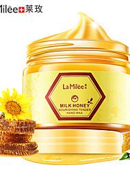 Недорогие -ламили молочный мед маска для рук уход за руками увлажняющий отбеливающий уход за кожей отшелушивающие мозоли пленка для рук крем для рук 150г