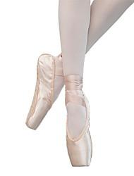 Недорогие -Жен. Танцевальная обувь Сатин Обувь для балета На каблуках На плоской подошве Персонализируемая Телесный