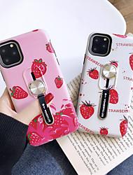 Недорогие -Кейс для Назначение Apple iPhone 11 / iPhone 11 Pro / iPhone 11 Pro Max Ультратонкий / С узором Кейс на заднюю панель Продукты питания ТПУ