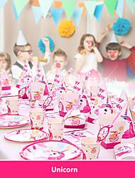 billige -baby shower bursdagsfest enhjørning tema fest dekorasjon forsyninger enhjørning papir kopp tallerken servise forsyninger